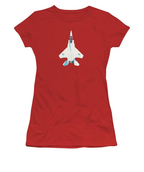 F15 Eagle Fighter Jet Aircraft - Crimson Women's T-Shirt (Athletic Fit)