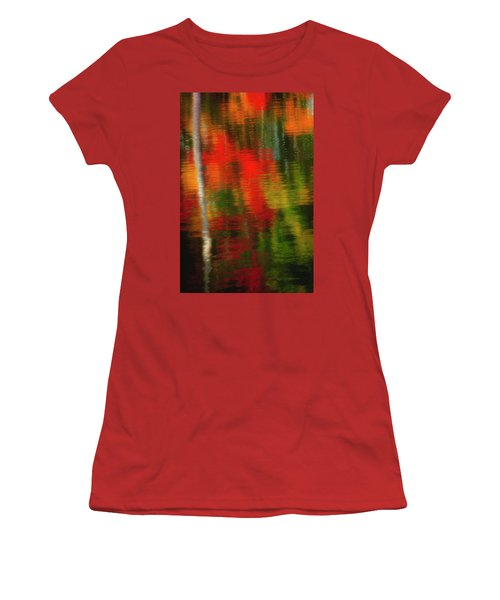 Fall Reflections Women's T-Shirt (Junior Cut) by David Cote