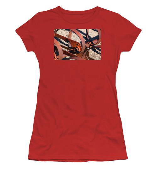 Women's T-Shirt (Junior Cut) featuring the photograph Farm Equipment 4 by Ely Arsha