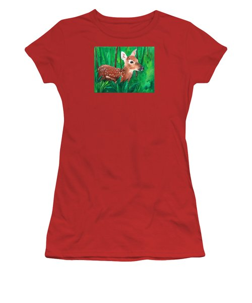 Fawn Women's T-Shirt (Junior Cut) by Ellen Canfield