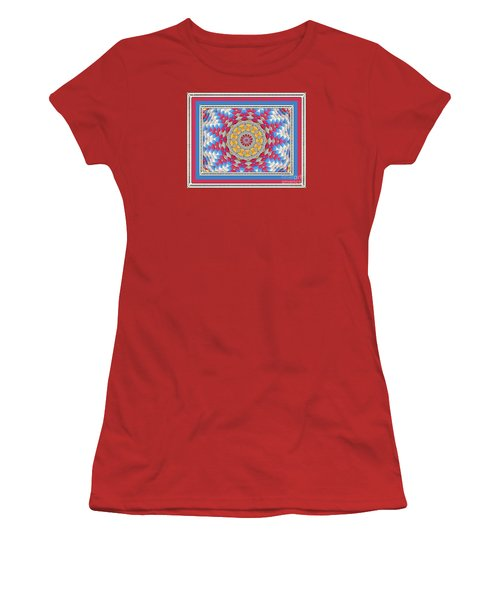 Women's T-Shirt (Junior Cut) featuring the photograph Feathered Star Quilt by Shirley Moravec
