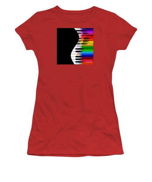 Women's T-Shirt (Junior Cut) featuring the digital art Feel The Music by Klara Acel