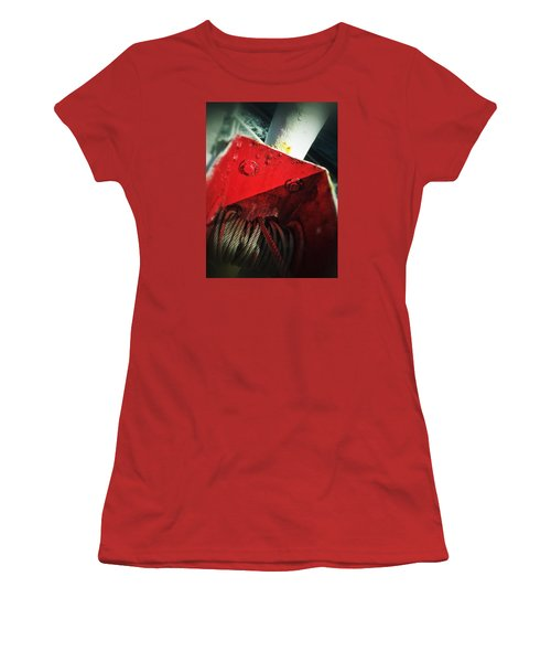 Women's T-Shirt (Junior Cut) featuring the photograph Ferry Hardware by Olivier Calas