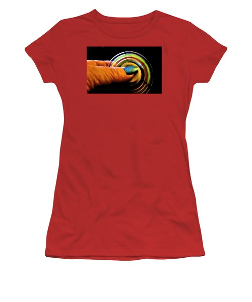 Women's T-Shirt (Athletic Fit) featuring the photograph Fidgets by Denise Fulmer