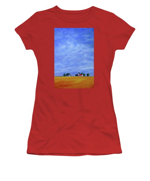 Fields Of Gold Women's T-Shirt (Junior Cut) by Jo Appleby