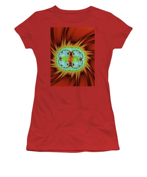 Fiery Glow Women's T-Shirt (Junior Cut) by Rajiv Chopra