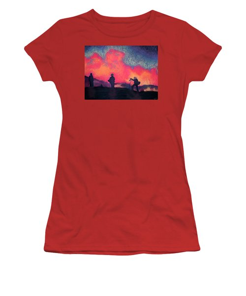 Fire Crew Women's T-Shirt (Athletic Fit)