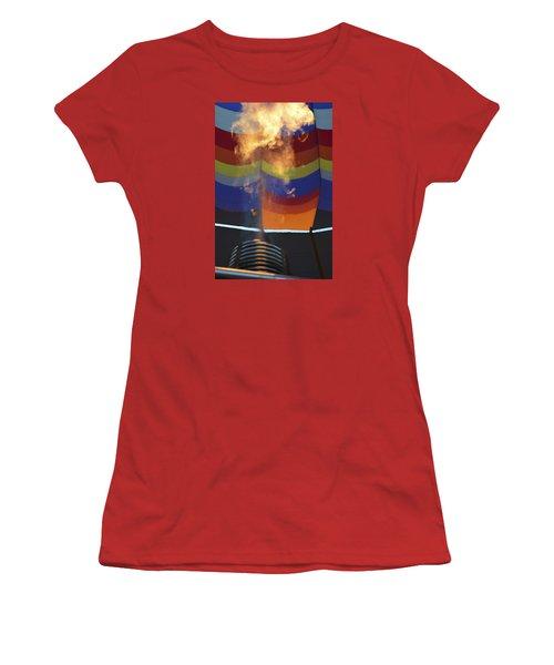 Firing Up Women's T-Shirt (Junior Cut) by Linda Geiger