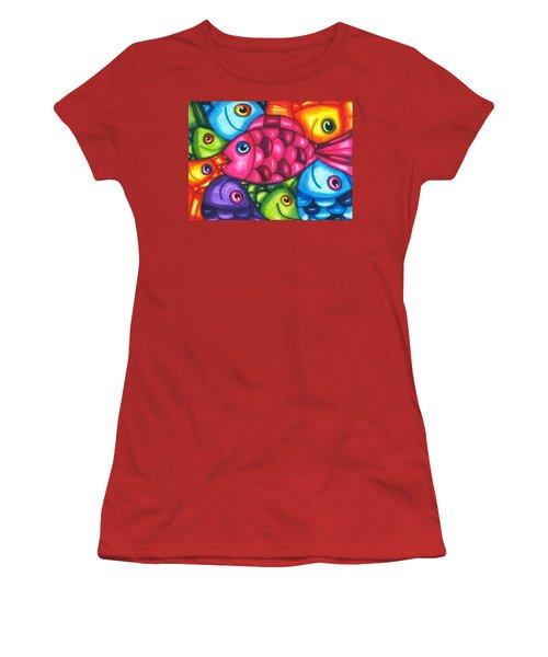 Fish Friends Women's T-Shirt (Athletic Fit)