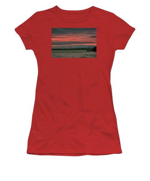 Women's T-Shirt (Junior Cut) featuring the photograph Fishermans Wharf Sunrise by Randy Hall