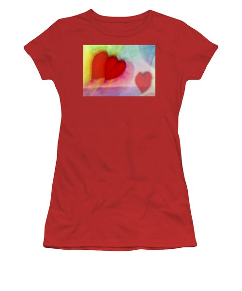 Floating Hearts Women's T-Shirt (Junior Cut) by Susan Stone