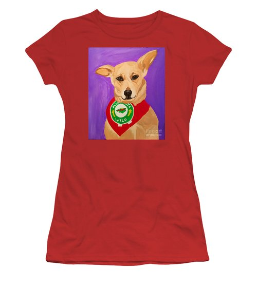 Women's T-Shirt (Junior Cut) featuring the painting Floppy Ear by Ania M Milo