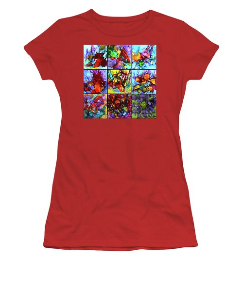 Floral Air Women's T-Shirt (Junior Cut) by Alene Sirott-Cope