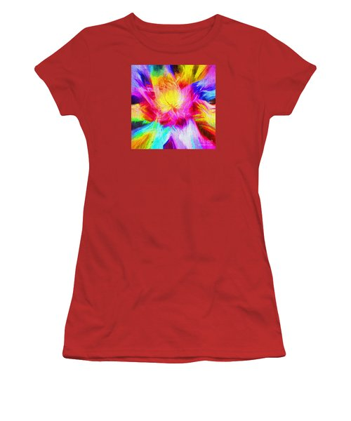 Women's T-Shirt (Junior Cut) featuring the photograph Floral Mandala 02 by Jack Torcello