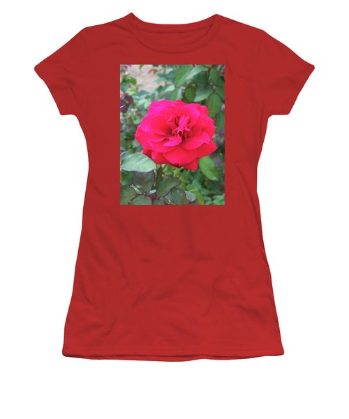 Women's T-Shirt (Athletic Fit) featuring the painting Floral Print 107 by Chris Flees