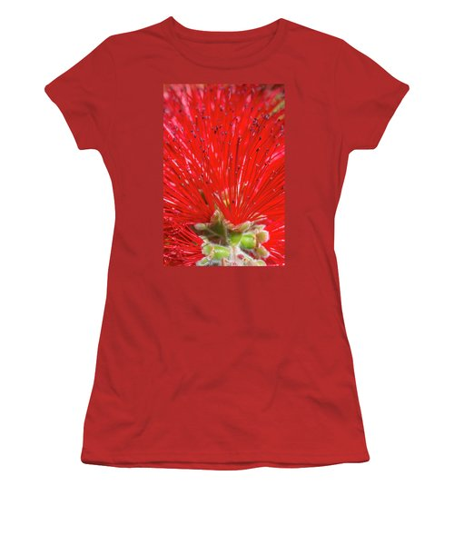 Floral Red Women's T-Shirt (Athletic Fit)