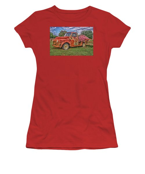 Dodge Flower Bed Women's T-Shirt (Athletic Fit)