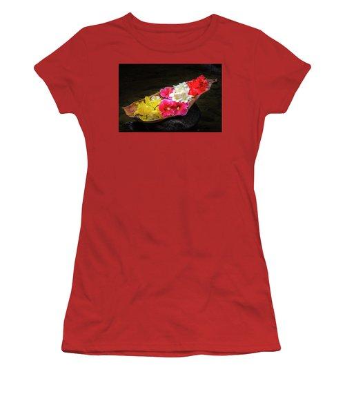 Flower Boat Women's T-Shirt (Athletic Fit)