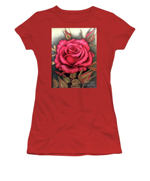 For You, The Red Rose Women's T-Shirt (Athletic Fit)