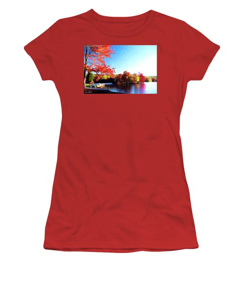 French Creek Fall 020 Women's T-Shirt (Junior Cut) by Scott McAllister