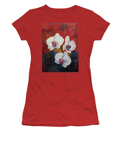 Women's T-Shirt (Junior Cut) featuring the painting Friends by Anna Ruzsan