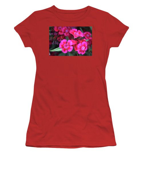 Women's T-Shirt (Athletic Fit) featuring the photograph Friends Are The Flowers by Trina Ansel