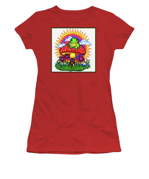 Froggy For Mukunda Women's T-Shirt (Athletic Fit)