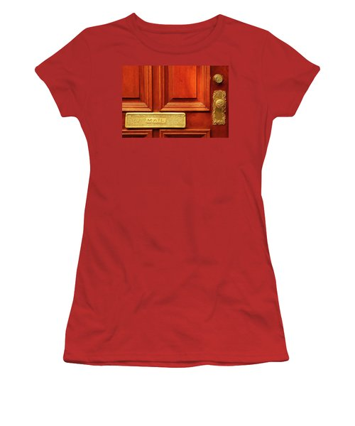 Women's T-Shirt (Junior Cut) featuring the photograph Front Door French Quarter by KG Thienemann