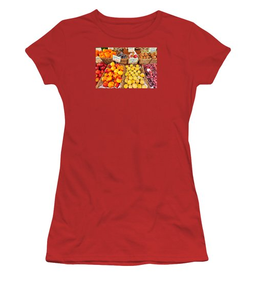 Women's T-Shirt (Junior Cut) featuring the photograph Fruits by Marwan Khoury