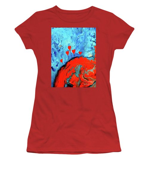 Germinating Love Women's T-Shirt (Junior Cut) by Saribelle Rodriguez
