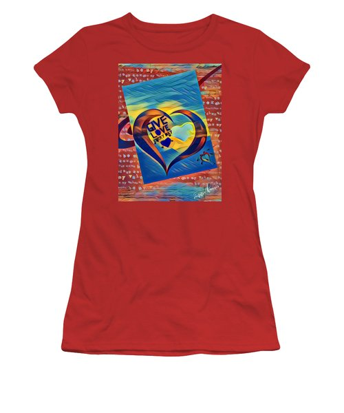 Give Love Women's T-Shirt (Athletic Fit)