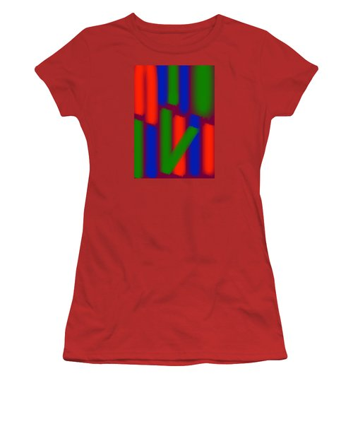Glow Sticks Women's T-Shirt (Junior Cut) by Karen Nicholson