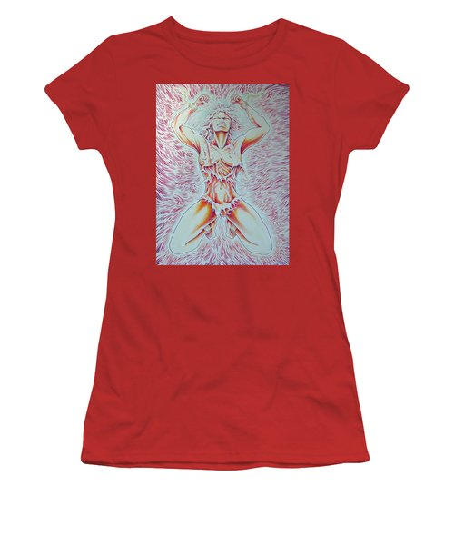 Goddess Breaking Chains Women's T-Shirt (Athletic Fit)