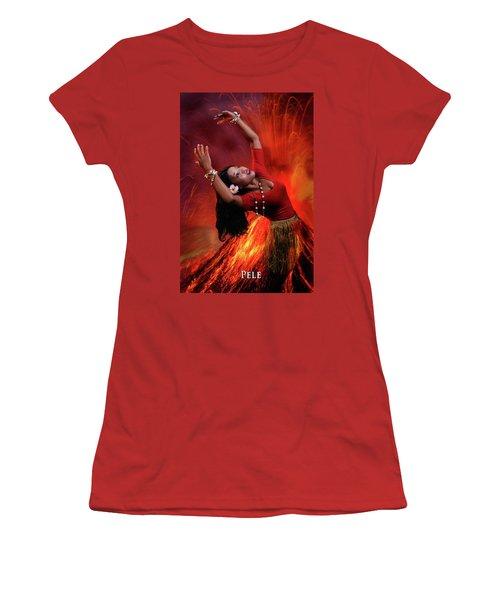 Goddess Pele Women's T-Shirt (Junior Cut) by David Clanton