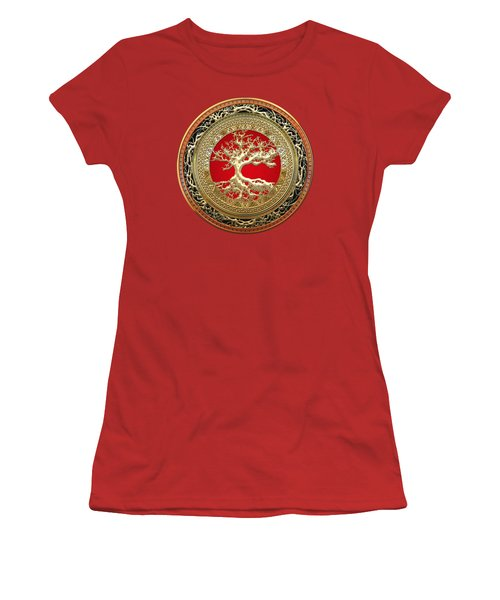 Golden Celtic Tree Of Life  Women's T-Shirt (Athletic Fit)