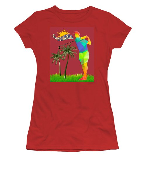 Golf Player Women's T-Shirt (Athletic Fit)