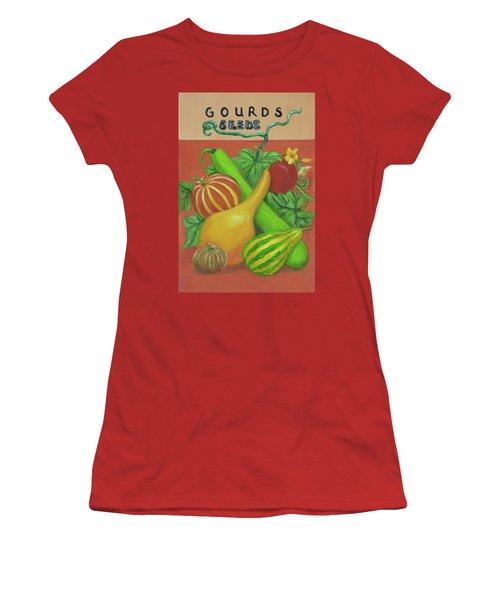 Gourd Seed Packet Orange Women's T-Shirt (Junior Cut)