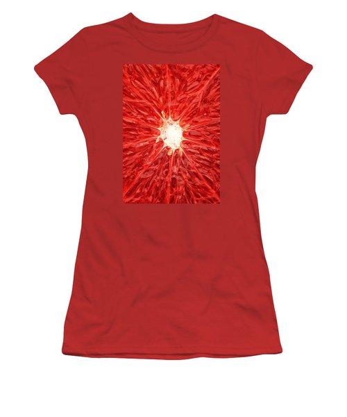 Grapefruit Close-up Women's T-Shirt (Junior Cut) by Johan Swanepoel