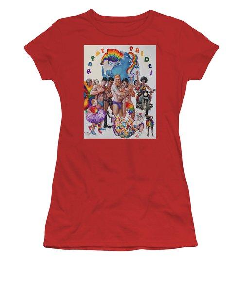 Happy Pride Women's T-Shirt (Athletic Fit)