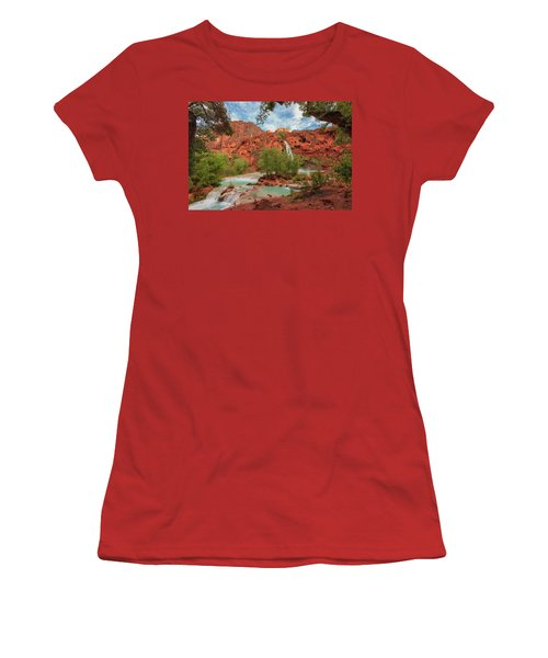 Havasupai Falls Pools Women's T-Shirt (Athletic Fit)