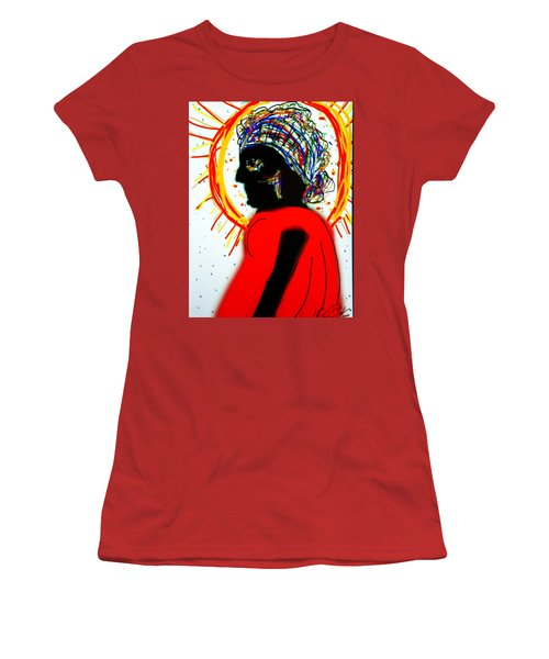 Headscarf Women's T-Shirt (Junior Cut) by Kathy Barney