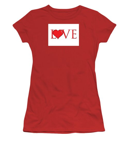 Heart Love Women's T-Shirt (Athletic Fit)