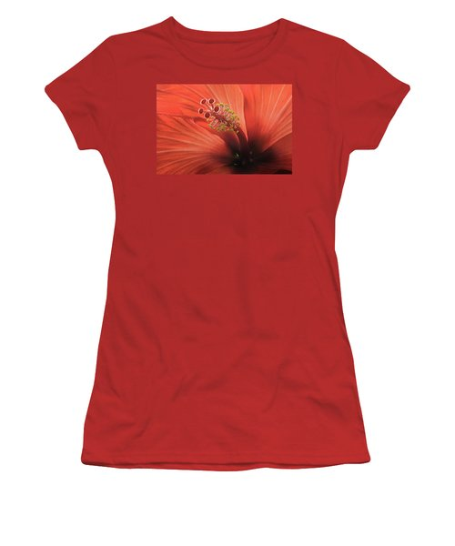 Heart Of Hibiscus Women's T-Shirt (Athletic Fit)