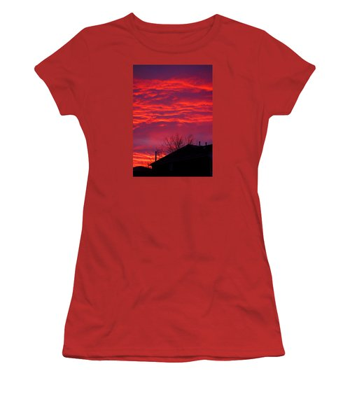 Women's T-Shirt (Junior Cut) featuring the photograph Hell Over Ontario by Valentino Visentini