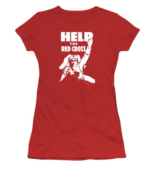 Help The Red Cross Women's T-Shirt (Athletic Fit)