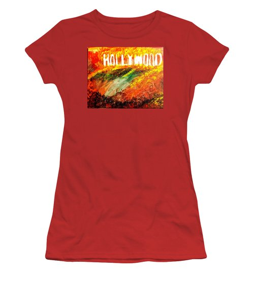 Hollywood Burning Women's T-Shirt (Athletic Fit)