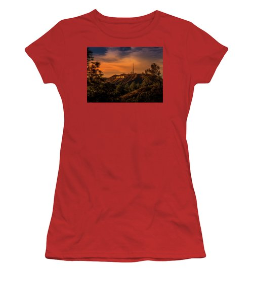Hollywood Sunset Women's T-Shirt (Athletic Fit)