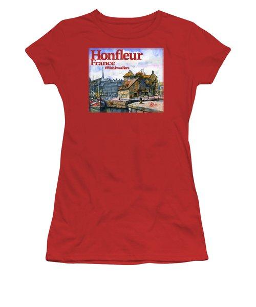 Honfleur France Shirt Women's T-Shirt (Athletic Fit)