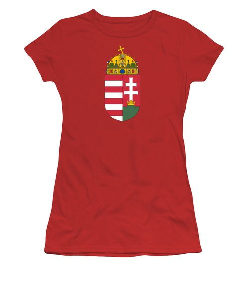Hungary Coat Of Arms Women's T-Shirt (Junior Cut) by Movie Poster Prints