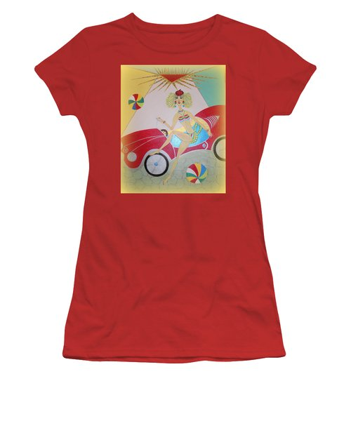 Women's T-Shirt (Junior Cut) featuring the painting I Lost My Balls by Marie Schwarzer